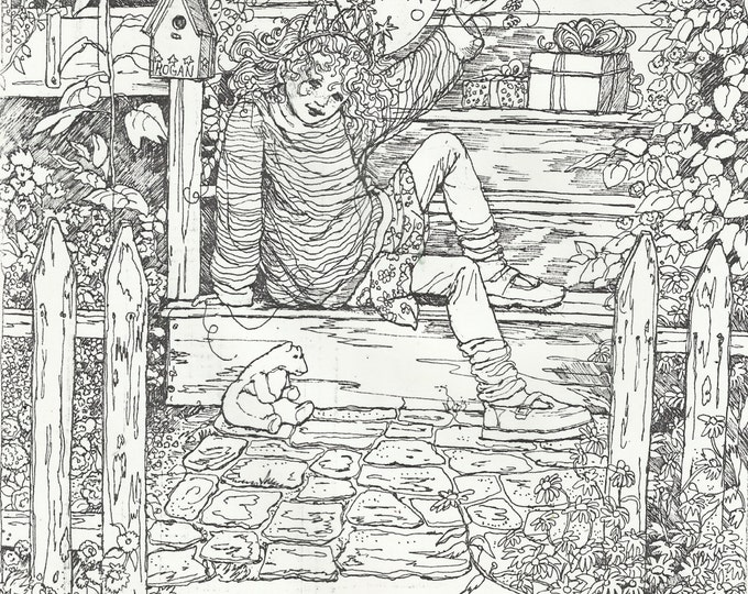COLORING PAGE Instant PrintColoring Page For AdultsTeensChildrenCute Picture