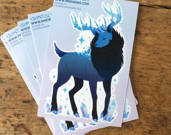 Crystal Stag Sticker