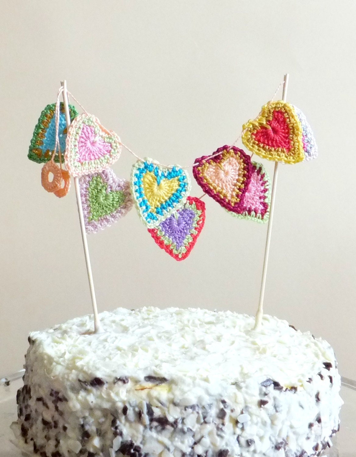hearts cake topper hearts garland valentines day