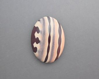 Natural Zebra Print Stone Cabochon