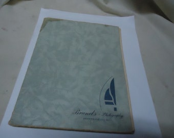 Vintage Brunel's Photography Photo Album from Bakersfield California, collectable