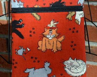 Handmade - Playful Cats - Sling Bag, Cross Body Bag, Hipster, Travel Bag - Hands free