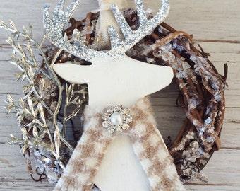 Christmas Ornament-Rustic Christmas Ornament-Deer Ornament
