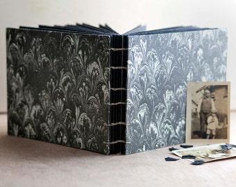 black marble photo album