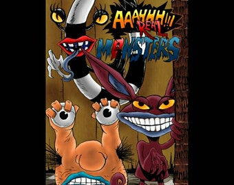 AHH! REAL MONSTERS - Original Comic Art Print - Signed by artist: Jason Flowers