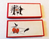 Vintage Halloween Name/Place Cards/ Boxed / Different Designs /Nice!