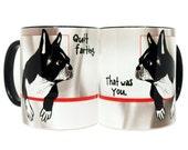 Farting Boston Terriers Black Mug