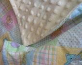 Baby Blankie Doll Blanket Minky Comfort Blanket American Doll Blanket