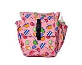 Little girl bag,Toddler bag Cotton Children bag Kids day bag, diaper bag -Pink umbrellas