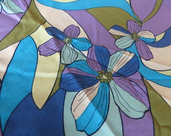 60s Floral Fabric //Vintage 1960s New Old Stock //Sewing Supply