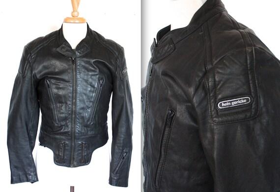 vintage hein gericke racing jacket 1980s black leather. Black Bedroom Furniture Sets. Home Design Ideas