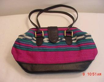 Vintage Mallory Quality Leathers Southwestern Handbag   16 - 458