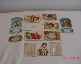 Vintage  Victorian Calling Cards Valentines Photographs Lot For Scrapbooking   16 - 517