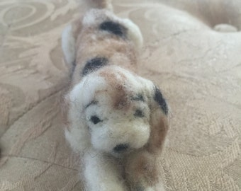 The Shelter Dog ( needle felted )