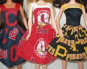 "Handmade 11.5"" fashion doll clothes - Baseball team dress"