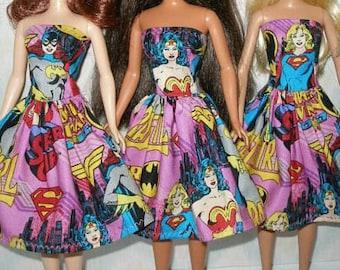 Handmade 11.5 Fashion doll clothes -  female super heros dress