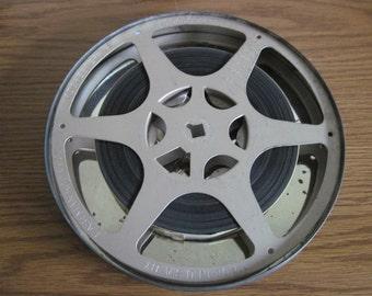 Vintage 16 mm Eastman Kodak Film Reel 400 Feet Movie Projector Reel With Movie Film Birthday Circa 1963