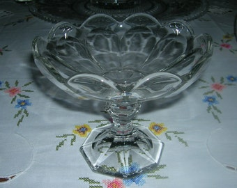 Vintage Heisey Puritan Clear Open Compote Stem 341, Circa 1930's