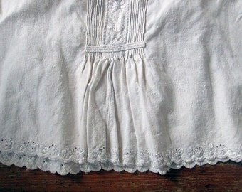 SALE Antique Romanian Tunic Thick Linen Handmade