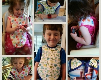 Bapron/ bib/ baby apron 2 sizes