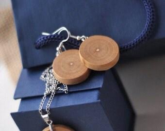 wooden earrings  •  ash wood earrings jewelry • wood earrings
