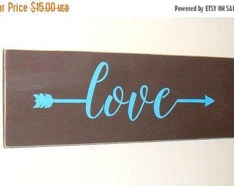 ON SALE TODAY Arrow Sign Love Sign With Arrow You Pick Colors