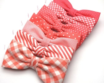 Coral Men Bow Tie Pre Tied BowTie for Wedding groomsmen groom polka Dot spot Striped Checked Men Boy Kid Baby Shower Bow tie Gift for him
