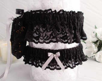 Handcrafted Garters Alcohol Holder - Bridesmaid Alcohol Garter - Garter Belt Alcohol Holder