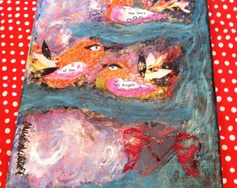 Original Art: The Story of the Angels - Original Mixed Media Painting