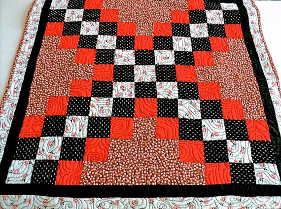 Quilted Table Runner Handmade / Quilted Table Topper / Quilted