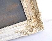 RUSTIC Wedding Decor Chalkboard Sign Vintage Wedding Decor Framed Chalkboard Old World Ornate Cream Distressed Wood Shabby Chic Farmhouse