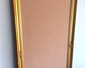 Office Organizer CORK BOARD Huge 30x54 Gold Framed Bulletin Board Wedding Seating Card Display Decorative Memo Board Mud Room Custom Colors