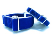"""Houndstown 1"""" Swiss Velvet Unlined Buckle or Martingale Collar, Any Size"""