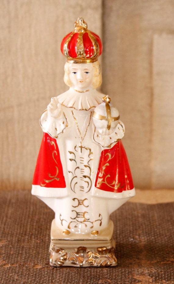 Vintage Infant Of Prague Vintage Figurine Collectible