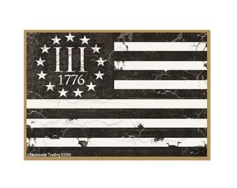 "III% 1776 American Flag Gun Safe Fridge Refrigerator Magnet 3.5""X2.5"""