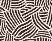 Nate Berkus Tolo Coal woven black ivory decorative designer pillow cover