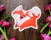 One Left**Pockets the fox 4 X 4 inch vinyl sticker