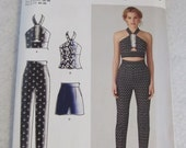 Simplicity Cynthia Rowley Pattern, Crop Top, Pants, Shorts