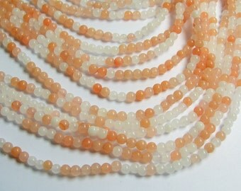 Pink aventurine  - 4 mm round beads -1 full strand - 94 beads - A Quality - RFG456