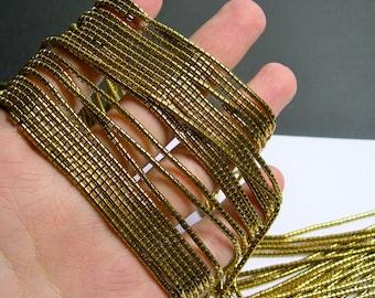 Hematite Gold - 2mm heishi  beads - 1 full strand - 195 beads - AA quality - PHG197