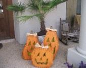 3-d wooden pumpkins