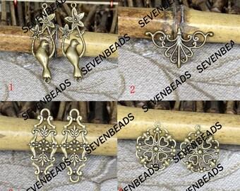 Antiqued brass metal filigree Connector Findings,Filigree Findings,Filigree