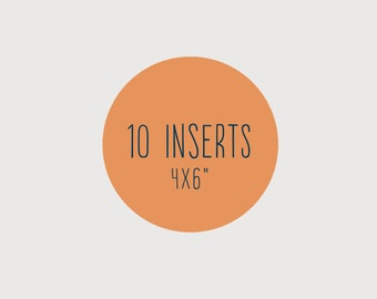 Add another 10 inserts to the small 4x6"