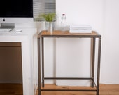 Reclaimed Wood and Steel Industrial Small Office Table