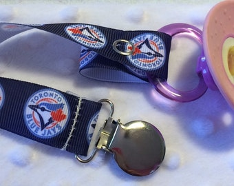 Toronto Blue Jays pacifier clip