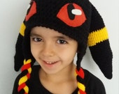 Umbreon inspired crochet hat,Umbreon Hat Pokemon Go