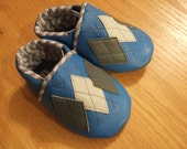 gray & blue argyle shoes boy's 6-12 months size 4 mud turtles and more