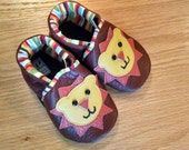 Brown lion shoes size 6/ 18-24 months leather baby boys shoes