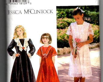 Jessica McClintock Girls Dress Pattern Simplicity 9619 Size 12 Vintage Sewing Pattern Seamstress Tailor Supplies