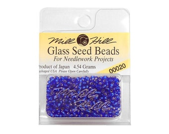 Royal Blue Seed Beads 11/0 Mill Hill 00020